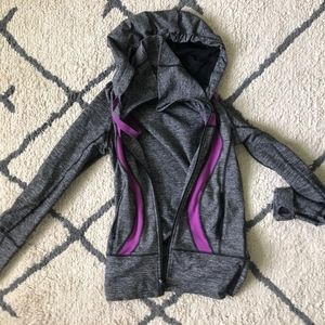 Grey Lululemon Jacket w Purple Highlights